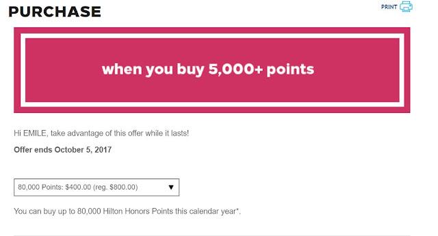 Get a 100% Bonus When You Buy Hilton Points