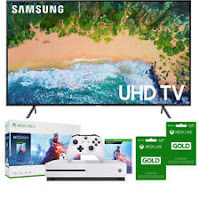 "Samsung UN75NU7100 75"" Smart 4K UHD TV (2018)+Xbox One S Battlefield V Edition"