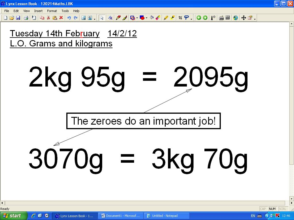 Mr Howe S Class Maths Grams And Kilograms