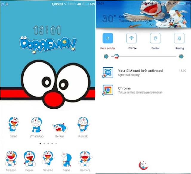 Tema Doraemon Xiaomi MTZ Tembus Aplikasi Lucu Keren MOD