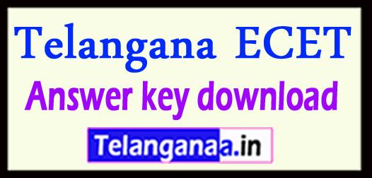 Telangana ECET Answer key 2018 download