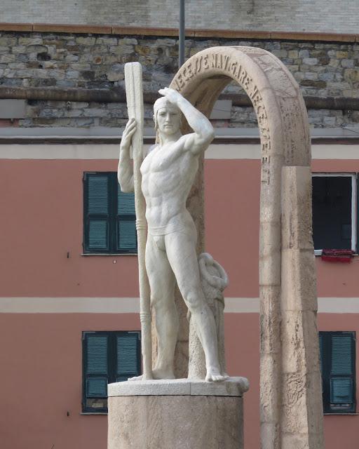 Il Navigatore (The Navigator) by Antonio Maria Morera, Viale delle Brigate Partigiane, Genoa