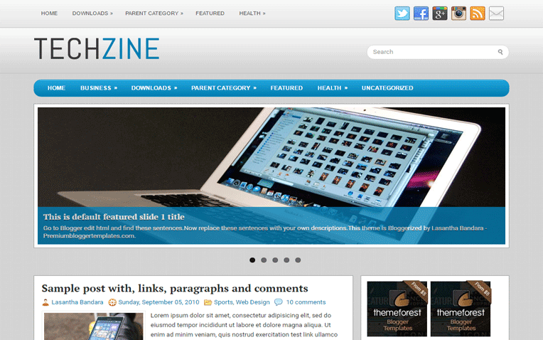 TechZine Free Blogger Template