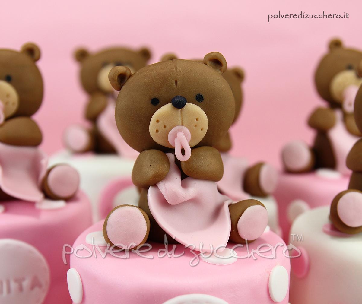 Popolare Mini cakes decorate, bomboniera per il battesimo di una bimba con  JL06