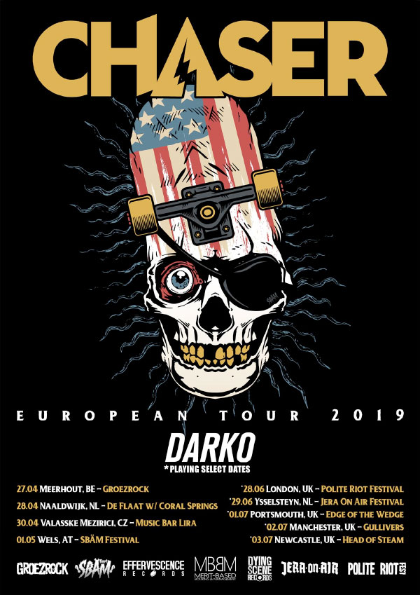 Chaser announce European Tour 2019