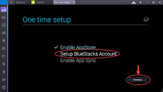 Step 4 - Create Bluestacks Account