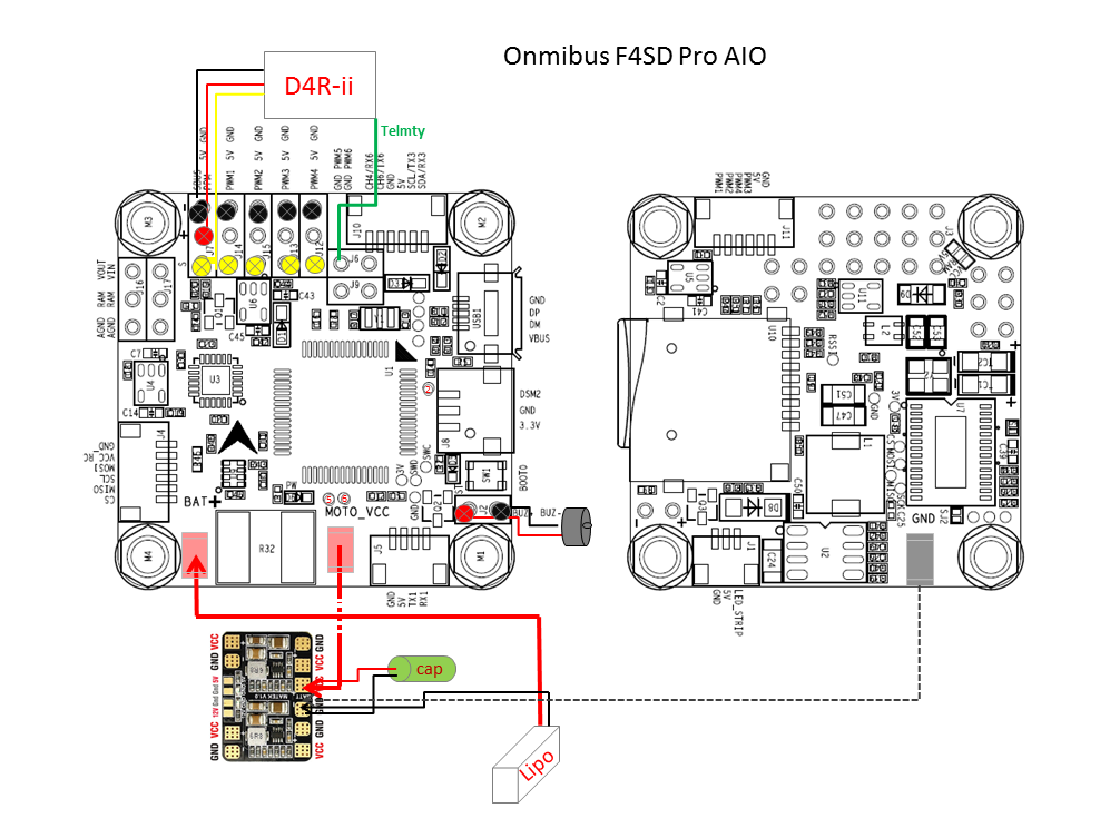 x155 quadcopter build with omnibus f4 pro v2  u2026 by david hk