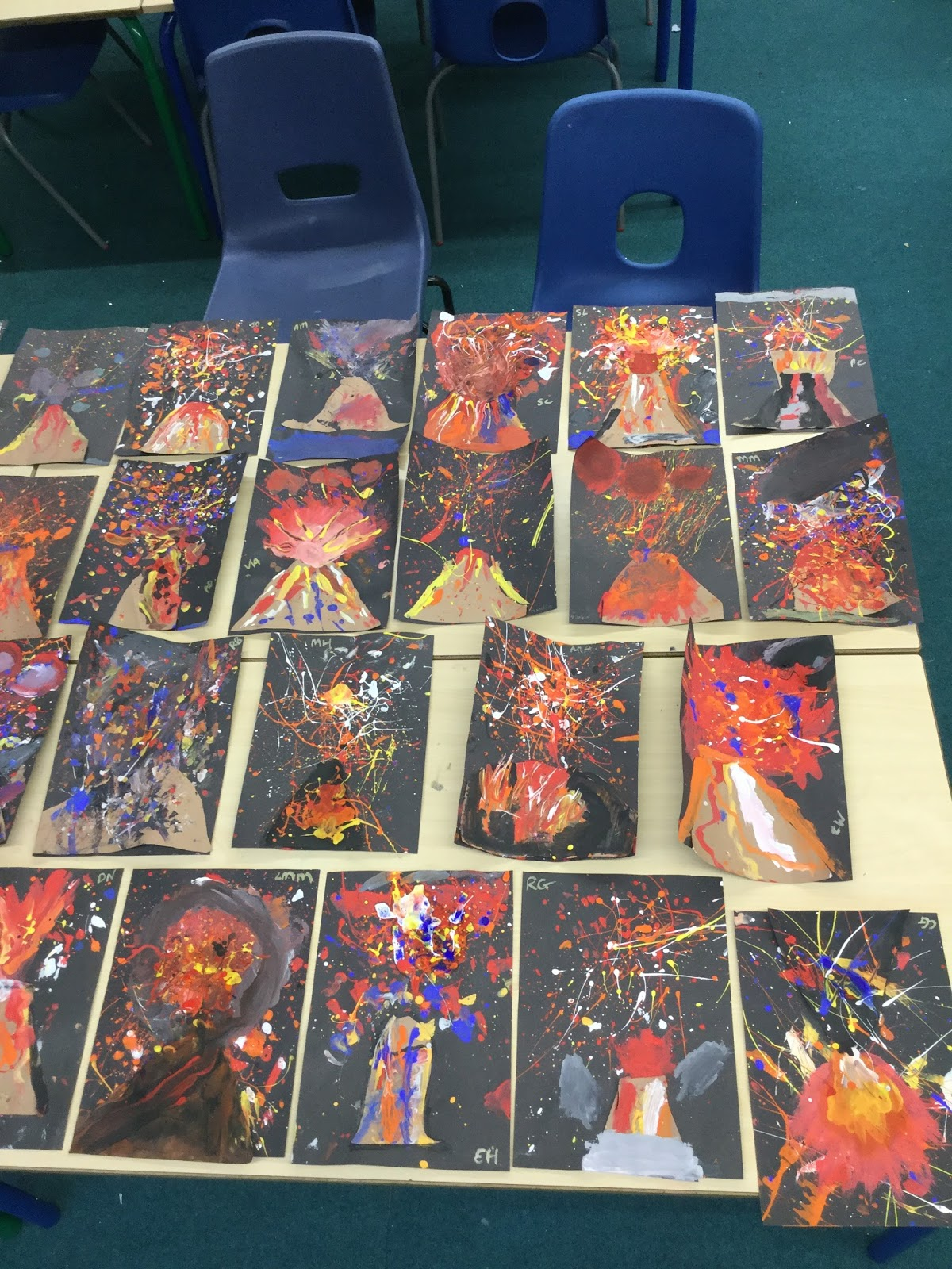 Windhill21 Year 3 Town Volcano Art