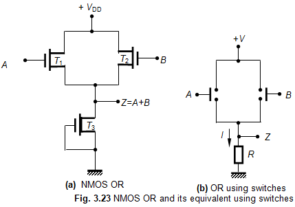 NMOS OR Gate Circuit - Electronics and Communication Study ... And Gate Schematic on