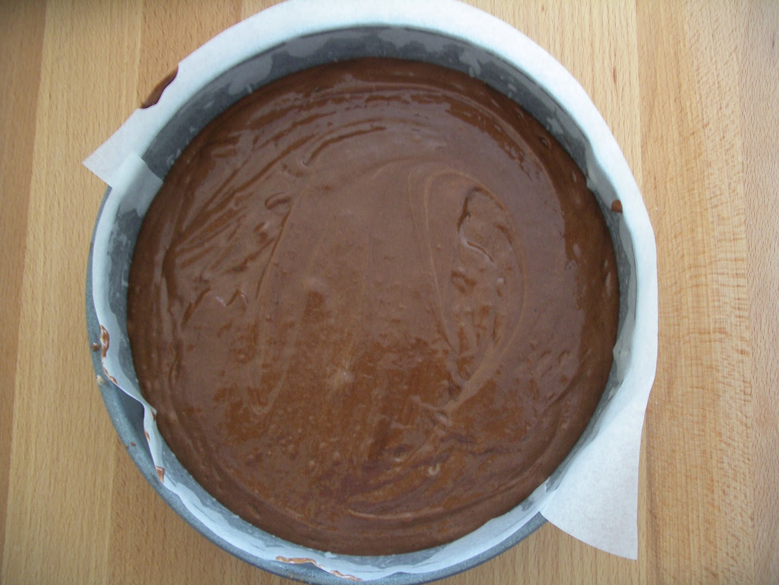 Tender chocolate cake (Torta tenerella ) - before baking