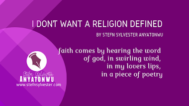 i don't want a religion defined