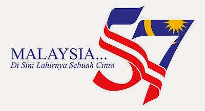 logo Hari kemerdekaan ke 57 bagi tahun 2014