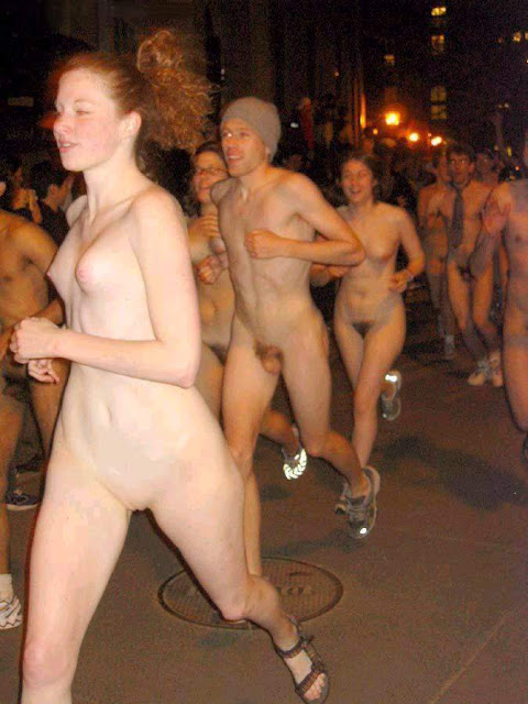 College naked run big tits