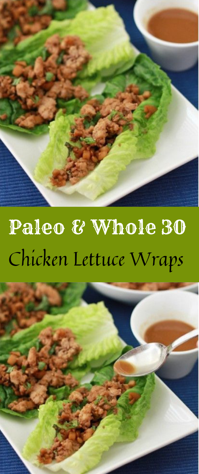 CHICKEN LETTUCE WRAPS #diet #healthydiet