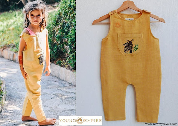 Princess Amalia wore Young Empire Peter short sleeve jumpsuit