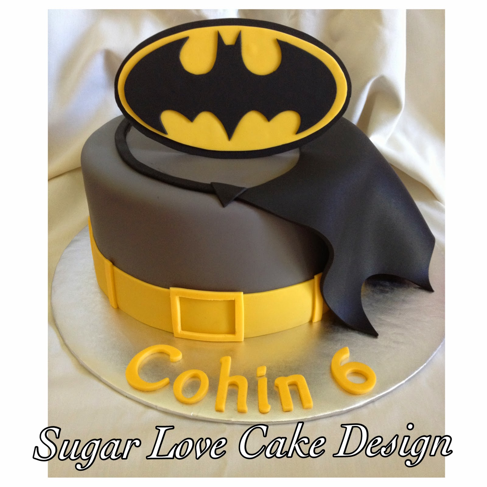 Sugar Love Cake Design Batman Cake