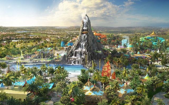 Atrações do parque aquático Volcano Bay em Orlando