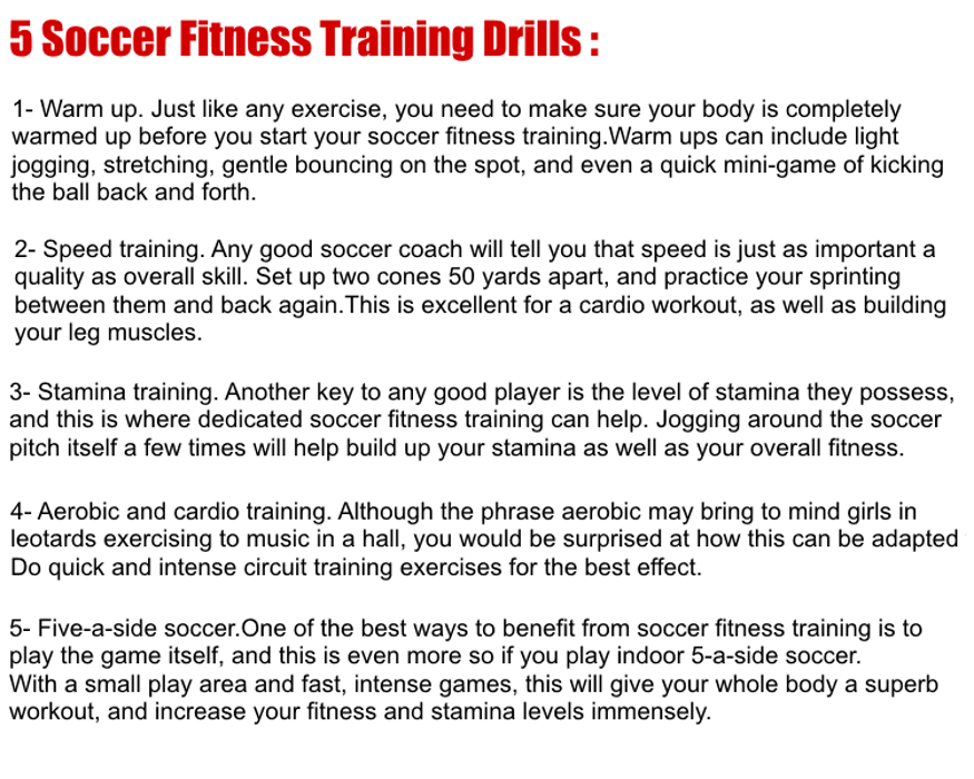 Soccer Fitness Training-Train Like a Professional ! ~ Top4You