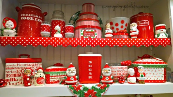 Cozy Christmas decor, vintage kitchen