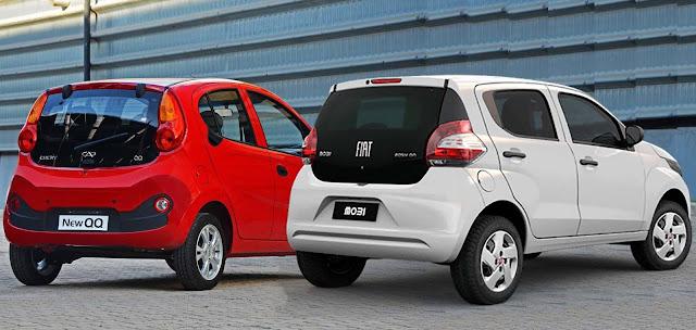 Fiat Mobi x Chery New QQ - comparativo