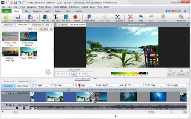 VideoPad est un programme pour créer des vidéos sous Windows. Il permet de créer et modifier des vidéos dans plusieurs formats tels que avi, wmv, 3gp, divx et bien d'autres.