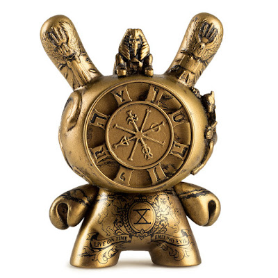 "San Diego Comic-Con 2017 Exclusive Gold Wheel of Fortune 3"" Dunny by JRYU x Kidrobot"