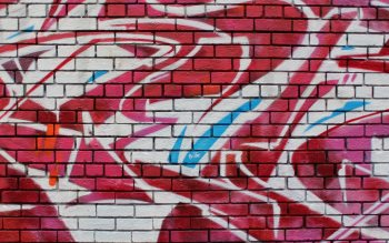 Wallpaper: Graffiti on brick wall