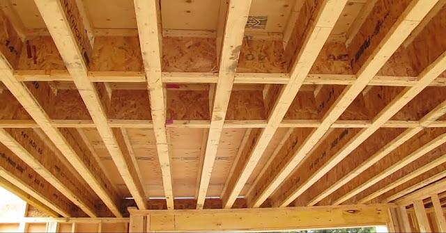 Rangka plafon kayu bertingkat dan cara pembuatannya
