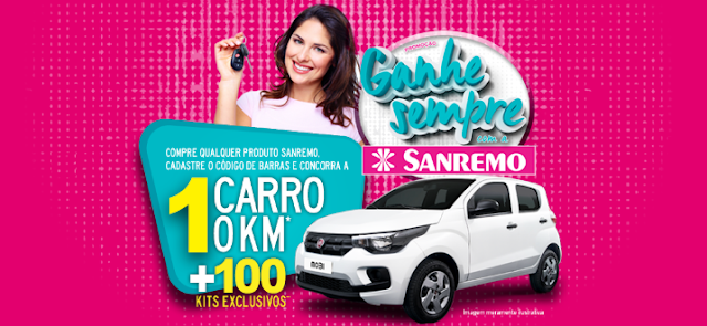 """Promoção """"Ganhe sempre com a Sanremo""""  #topdapromocao @topdapromocao www.topdapromcoao.com.br http://topdapromocao.blogspot.com facebook instagram twitter pinterest youtube blogger sorteio prêmios carro dinheiro sorte"""