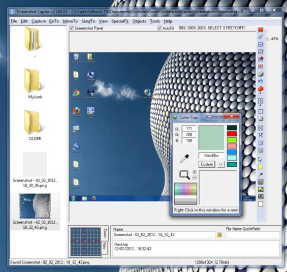 captor Screenshot