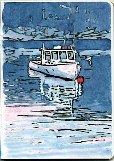 """Lobster Boat"" - Watercolor by Paul Sherman"