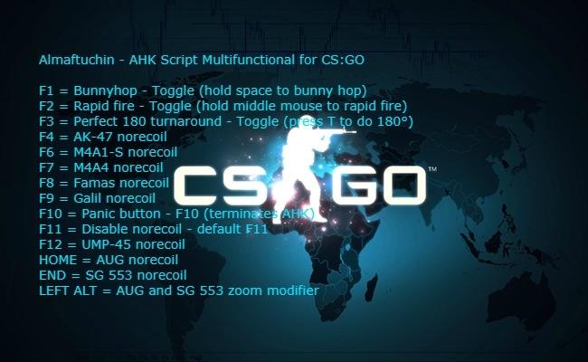 AHK Script For CS:GO No Recoil, Rapid Fire, Perfect 180
