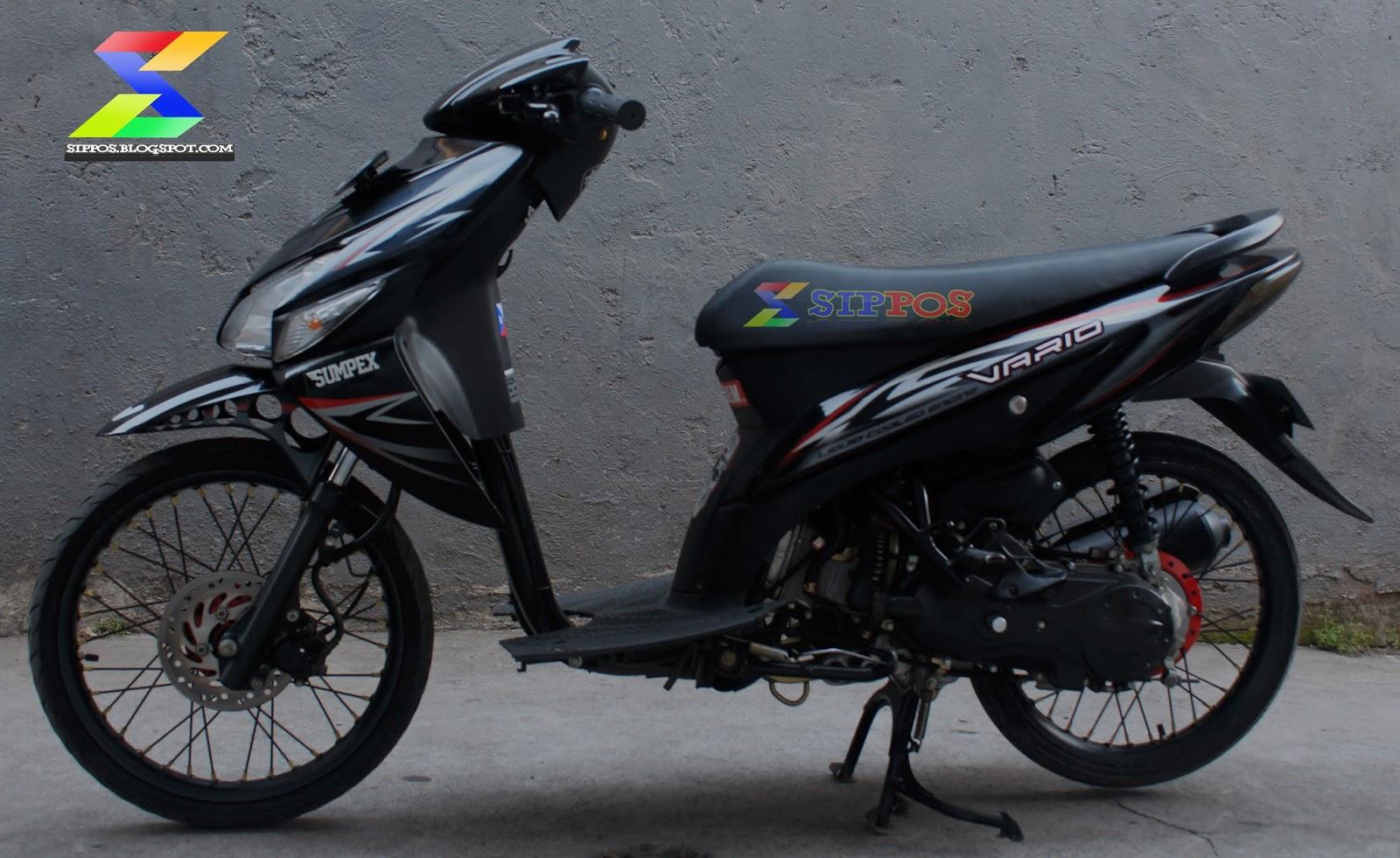 Modifikasi Honda Vario 110 Minimalis Lampak Modifikasi
