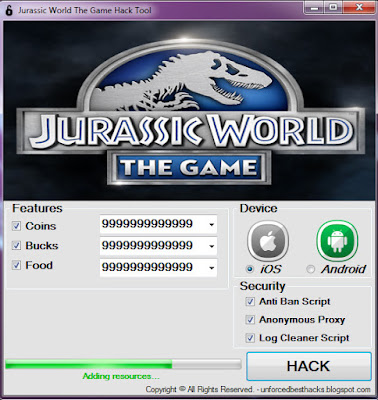 Jurassic World The Game Hack Apk