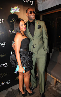 LeBron James with Wife Pics | All Sports Stars