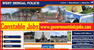 West Bengal Police Recruitment Notification 2018 for Constable Jobs
