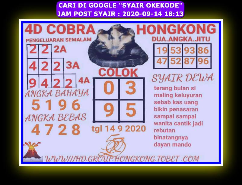 Kode syair Hongkong Senin 14 September 2020 47