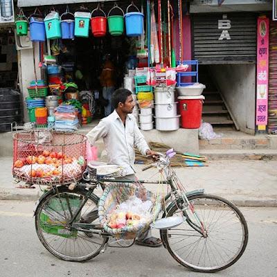 Bicicleta en Katmandú
