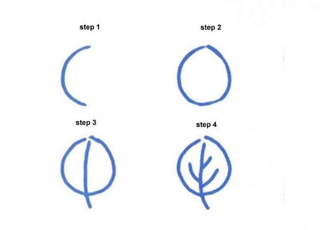 Cara Mudah Menggambar Daun Untuk Anak-Anak
