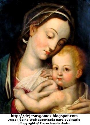 Imagen de la Virgen de la Leche o Señora de la Leche. Imagen de la Virgen de la Leche de Jesus Gómez