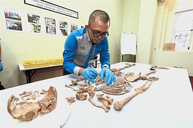 Skeleton from Mesolithic period discovered in Malaysian cave