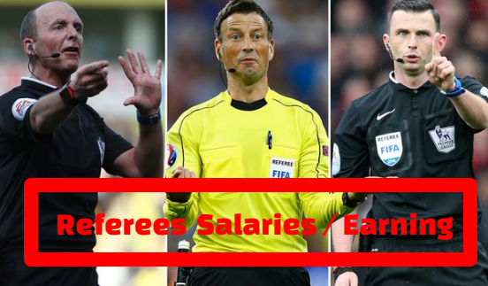 Football Referees Salaries, earning, uk, top football league, champions league, fifa world cup.