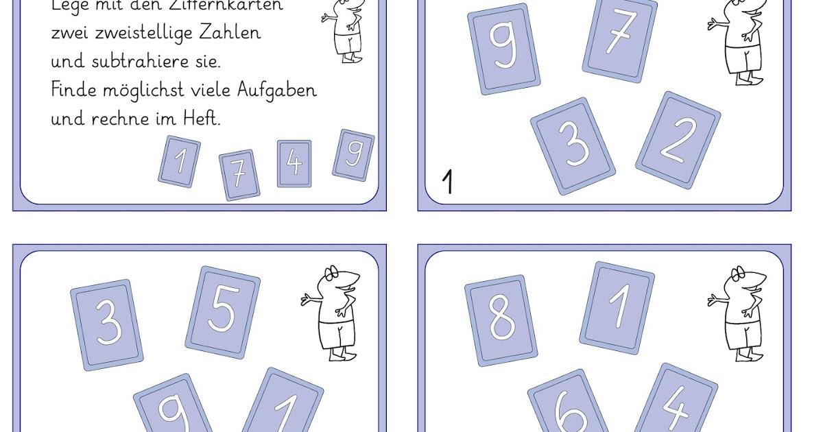 Lernstu00fcbchen: Rechnen mit Ziffernkarten
