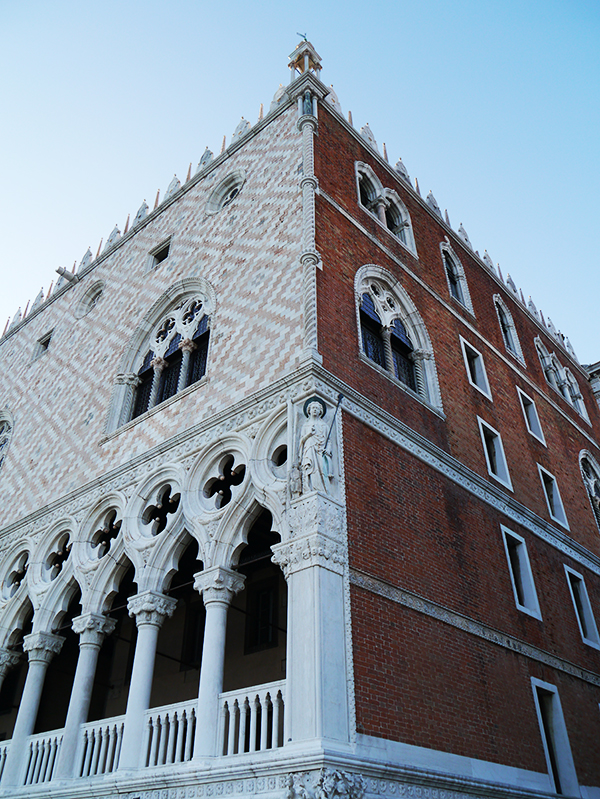 Facade of the Doge's Palace in Venice, Italy