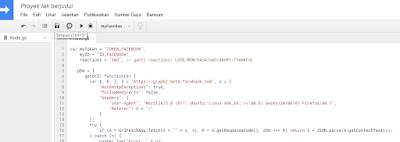Bot Reaction Facebook dan Like Komentar Menggunakan JavaScript