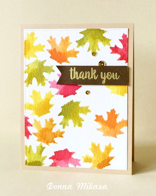 Sunny Studio Stamps: Autumn Splendor Fall Leaves Card by Donna Mikasa.