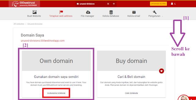 Tutorial Cara Mengubah/Mengganti Domain Name Website Di Hosting Gratis 000webhost Dengan Domain Gratis Freenom