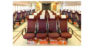 A photo of 1Bataan Ferry's interior and comfortable chairs.