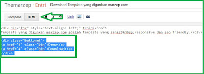 Cara Memasang Tombol Demo dan Download di Postingan Blog