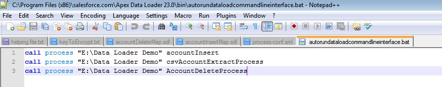 Salesforce Stuff: Data Load through Command line Interface